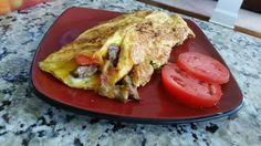 Western Omelet. Steak and Mushrooms. #famousRedPlate
