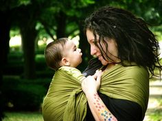 Babywearing and dreads.  What more could you ask for?