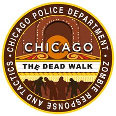 zombie embroidered patch - Chicago Police