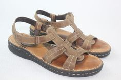 Minnetonka Moccasin Brown Leather  Sandals Women's Size 10 #MinnetonkaMoccasin #Slingbacks #Casual