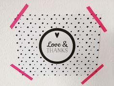 Love&Thanks von Willkommen bei den *Muuschels auf DaWanda.com