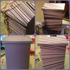 Stripete Postkasse i spenstig design! underveis og ferdig produkt www.hjertehjort.no