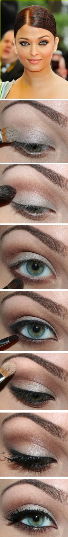 Aishwarya Rai eye makeup #makeup #beauty #cosmetics #Christmas #thanksgiving #Holiday #quote