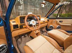 1983 VOLKSWAGEN GOLF MK1 CABRIOLET Custom - Interior Tan & Beige Leather Driver Side
