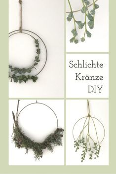 wreaths tie with brass ring, instructions for making yourself! - Simple wreaths tie with brass ring, instructions for making yourself! -Simple wreaths tie with brass ring, instructions for making yourself! - Simple wreaths tie with brass ring, instruc. Diy Jewelry Rings, Diy Jewelry Unique, Diy Jewelry To Sell, Diy Jewelry Holder, Diy Rings, Diy Jewelry Making, Diy Nature, Nature Crafts, Fleurs Diy