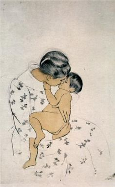 Artist: Mary Cassatt Completion Date: 1891 Style: Impressionism, Japonism Genre: sketch and study Technique: drypoint, etching Dimensions: 27.305 x 37.211 cm Gallery: Private Collection