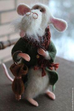 Переменно облачно - белый,белая войлочная крыса,шерсть