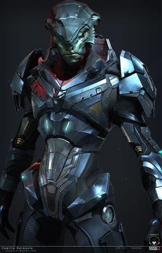 ArtStation - Mass Effect Challenge - Nalik - Close, camille delmeule