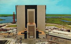 John F. Kennedy Space Center Florida Vehicle Assembly Building Post Card 1970s