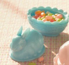 Easter Bunny Candy Dish With Images Candy Dishes