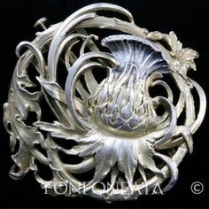 Fonfoneata Silver buckle in Art Nouveau style, ca.1900 Probably Belgium or France