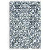 Found it at Wayfair - Francesca Blue/White Floral Area Rug