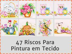 47 riscos pintura Diy Home Crafts, Crafts For Kids, Sewing Projects, Projects To Try, Knitting Patterns, Crochet Patterns, Denim Crafts, Christmas Crafts, Christmas Ornaments
