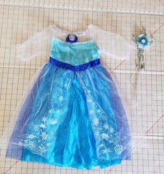 NEW Frozen Elsa Dress & Wand Jakks Pacific Disney Halloween Costume Girls 4…
