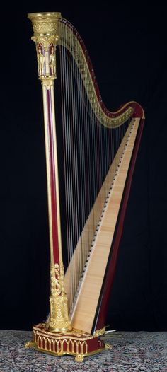 Blaicher harp from the early 1800s - H. Bryan & Co. » Gallery of Restored Harps