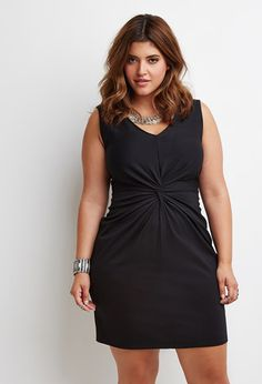 Knot-Front Sheath Dress | Forever 21 PLUS - 2000172459