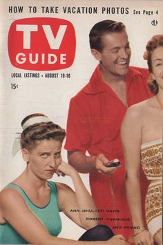 "Ann B. Davis and Bob Cummings of ""Love That Bob!""  August 10-16 1957"