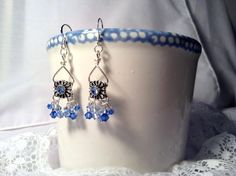 Blue Swarovski Sapphires Bicone Crystals by TheBeadedPathway
