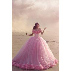 Roze Cinderella jurk