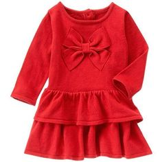 NWT Gymboree BELLES AND BOWTIES Red Tiered Bow Holiday Sweater Dress Size 6-12M #Gymboree #SweaterDress #EverydayCasualChristmasHoliday