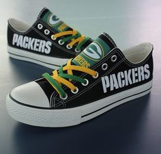 Packers shoes Packers sneakers Packers tennis shoes by Uteehavy I want these!