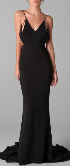 Evening gown, couture, evening dresses, formal and elegant Hakaan gown - elegant and sexy #black