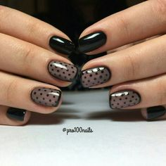Beautiful evening nails, Black dress nails, Black french manicure, Black nails…