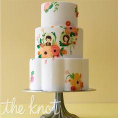 vintage wedding cake.  I like 70s feel of it.