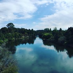 Waikato river, right in the middle of Hamilton city, New Zealand! New Zealand Landscape, Hamilton, Middle, River, Tattoo, City, Outdoor, Scenery Photography, Places