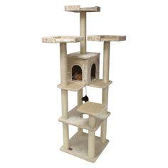 80 Casita - Fur Cat Condo tree Furniture Tower, Classic Honey
