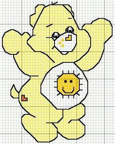 Cantinho do Bordado: Gráfico Ponto Cruz Ursinhos Carinhosos Crochet Skull Patterns, Graph Crochet, Crochet Blanket Patterns, Cross Stitch Patterns, Care Bears, Corner To Corner Crochet Pattern, Stitch Character, Stitch Cartoon, Baby Embroidery