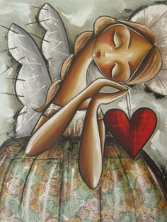 angel paint and sip Angel Images, Angel Pictures, Christian Artwork, I Believe In Angels, Arte Popular, Angel Art, Heart Art, Whimsical Art, Beautiful Paintings