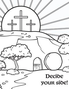 Christian Coloring Pages for Kids - Decide Your Side