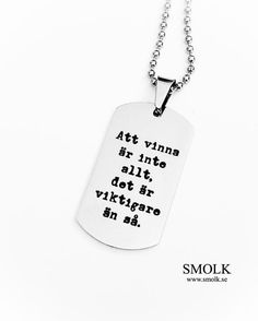 """Nyckelring Tagged """"stor_id"""" - Smolk Sweden Dog Tag Necklace, Dots, Humor, Jewelry, Captions, Sweden, Doodles, Funny, Instagram"""