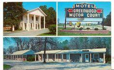 1963 Postmarked Postcard Greenwood Motel South Virginia VA 3 views Quiet Rest
