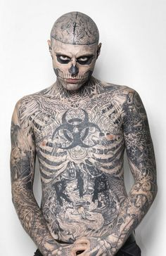 Rick Genest a.k.a Zombie Boy from Montreal.