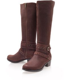 Perfect boots for the winter months - Ugg's dark brown  leather knee-high boots available at Liberty.co.uk