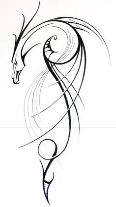 Lineart dragon