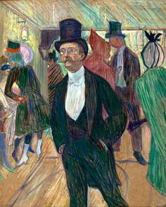 Henri de Toulouse-Lautrec (French, 1864-1901), Monsieur Fourcade, 1899. Pastel on cardboard,
