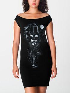 Night Watch - American Apparel T Dress ( Space dress, Galaxy dress , Cat dress, Surreal dress )