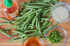 Recipe for sous vide szechuan style green beans by Emily and Jeff prepared with the Anova sous vide machine Vegetable Dishes, Vegetable Recipes, Vegetarian Recipes, Cooking Recipes, Sous Vide Vegetables, Mixed Vegetables, Veggies, Tagine Recipes, Gnocchi Recipes