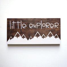 Little Explorer Sign Explore Sign Woodland Nursery by HandyGerl