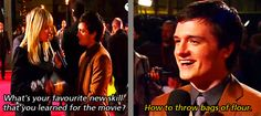 Josh Hutcherson on his favorite new skill he acquired for the movie. (At The Hunger Games London Premiere)