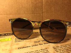 RARE Vintage Mid Century Clubmaster Sunglasses Wacky Colorful Round Atomic Retro #Unbranded #Round