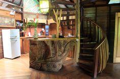 tree house lodge beach house interior   - Costa Rica