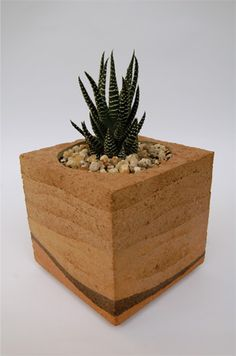 Rammed Earth vase by Daniel Mantovani