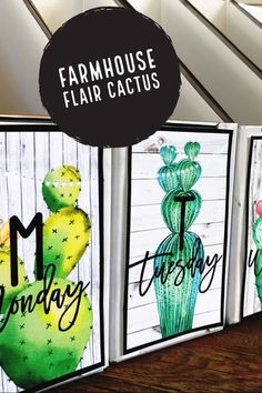 "This cactus classroom decor is rich with charm! It is full of galvanized metal, shiplap, wood grains, chalkboards, lanterns, string lights, and beautiful cactus watercolors. It is sure to give you the PERFECT ""home away from home."" #HollieGriffithTeaching #FarmhouseClassroom"