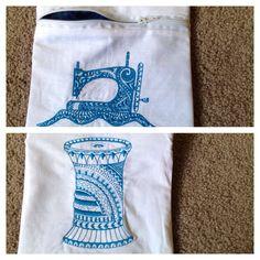 Unused embroidery designs, using freebie design for purse