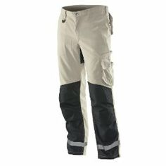 Service Trousers In White and Black by  Jobman Workwear