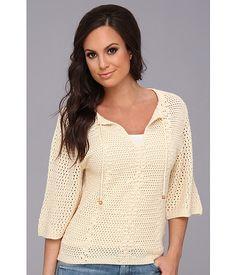 Lucky Brand Crochet Peasant Sweater